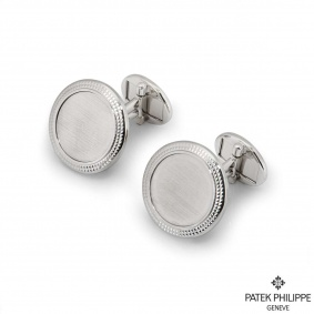 Patek Philippe White Gold Calatrava Cufflinks